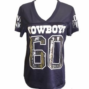 Victoria Secret Pink Dallas Cowboys Sequins Jersey